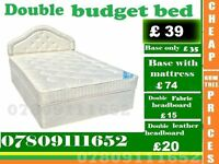 New Single, Double and King Size Budget Bed Frame with Mattress Range