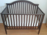 Like new large crib $250 with matress/converts to double bed