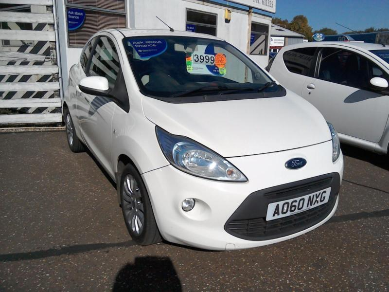 Ford Ka  K Fsh White Aircon Aux Alloys Lowins Ideal First Car