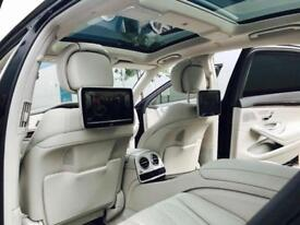 2014 14 Mercedes-Benz S63 L AMG 5.5 EXECUTIVE ( 585bhp ) MCT + BLACK + 3 TVs