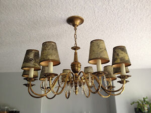 Antique Chandelier with Original Hats Strathcona County Edmonton Area image 2