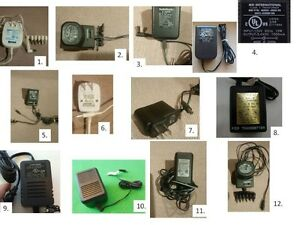 Various Universal and Other AC/DC Power Supply Adapters