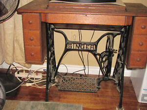 Antique Singer sewing cabinet - Great for a DIY vanity or table London Ontario image 1