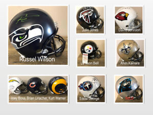 Full Size NFL Autographed Helmets