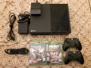 Xbox one 1tb + 2tb external hard drive, 2 controllers and games