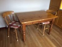 Pine Kitchen Table & Chairs
