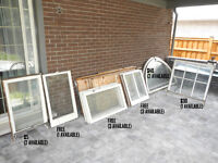 Antique window frames.  Also other items for sale.