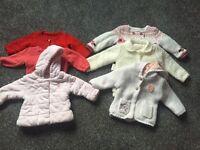 Girls Winter Coat/Cardigan 6/9 Bundle
