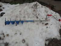 Manual ice auger