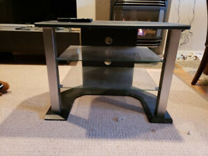 Glass multi-level TV/entertainment stand
