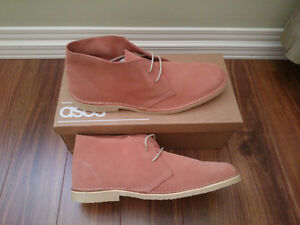 BRAND NEW - ASOS Peach Suede Desert Boots - UK 11 / US 12