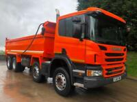 2013 63 Scania P400 8x4 Thompson steel tipper, weigher, auto tailgate