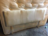 Faux leather White king size headboard