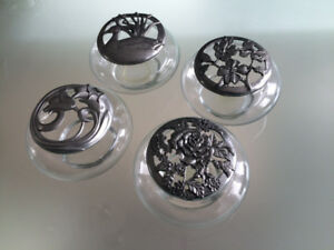Seagull Pewter Potpourri  Dishes (set of four)