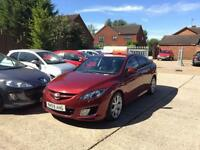 2009 59 MAZDA 6 2.2 D SPORT 5D 185 BHP DIESEL *FULL SERVICE HISTORY*LEATHER*RED*