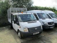 2014 64 FORD TRANSIT 2.2 350 DRW 1D 125 BHP DIESEL TIPPER WITH CAGE