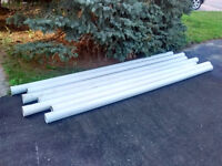 PVC 4 inches x 10 ft SOLID PIPE (x7)