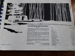 VINTAGE 1974 AIRSTREAM SERVICE MANUAL 295 PAGES