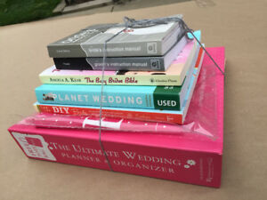 Set of wedding planning books