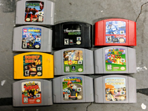 N64, GBA, GB and Wii U games and consoles!