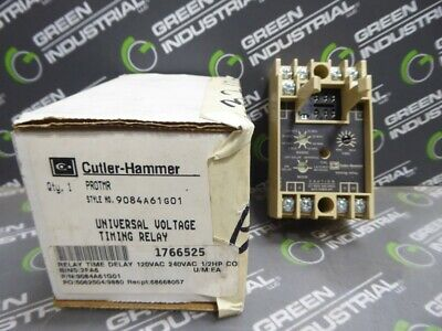 New Cutler-hammer Protmr Programmable Timing Relay 9084a61g01