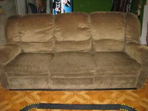 divan 3 places et fauteuil inclinables