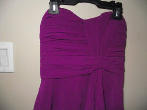 Cute little purple heart neck dress