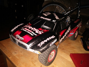 3 brushless rtr 4x4 and 2wd traxxas slashes.