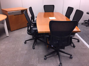 Boardroom Table 84x42 - National - $900 ONLY Today & Tomorrow