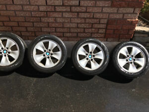 2007 BMW 3 series tires and rims.