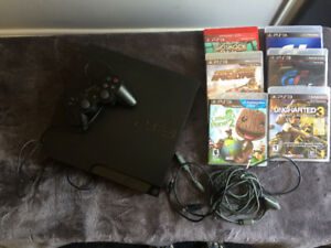 Sony PS3 with Controlier and Games