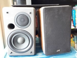 JVC Wood Bookshelf Speakers