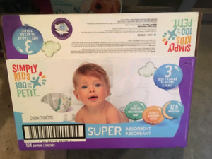 Simply kids size 3 diapers