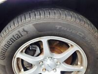 Trade for a decent tv?? 4 new continental rubbers on rims