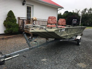 14 foot grizzly welded Aluminum duck boat