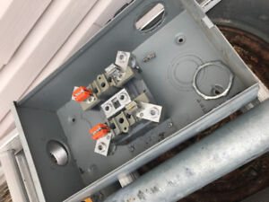 200 amp meter box and pole, suitable for cabin