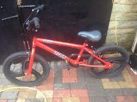 Red trax bmx bike