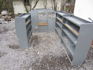 Shelving Unit and diverder for Full Size Van, GMC Savanna, Chevy