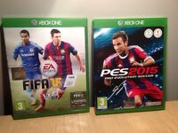 Xbox One Game Bundle - FIFA 15 and PES 2015 - Very Good Condition