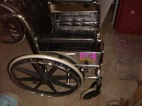 Wheelchair, Black, Folding, no feet, excellent, $95.00