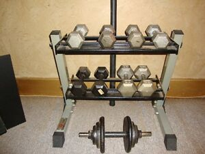 Dumbell Set and Rack