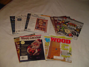 Lots of woodworking magazines