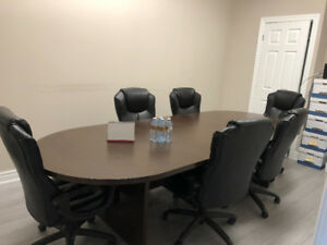 Board Room Table & 6 Chairs $800