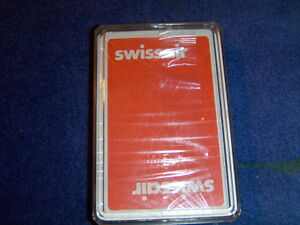 COLLECTIBLE SWISSAIR DECK OF PLAYING CARDS-UNOPENED-AIRLINES