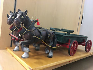 Horse Carriage Figurine