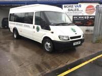 Xmas sale 2003 ex church Ford TRANSIT 17 seat minibus 2.4 90bhp