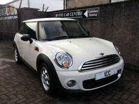 12 62 MINI 1.6 TURBO DIESEL 3DR WHITE £0 TAX BLUETOOTH CLIMATE COMPUTER ALLOYS