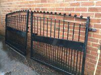 Powder coated heavy duty gates