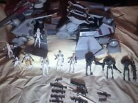 Star Wars action vehicles and figurines