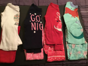 4 girls PJ's!! Size 5 ** all 4 for just $10!